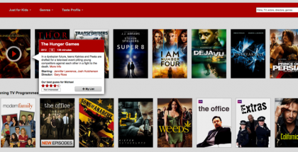 how to find the search button on netflix
