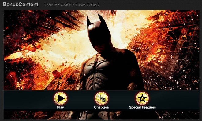 The Dark Knight Rises - iTunes Extras