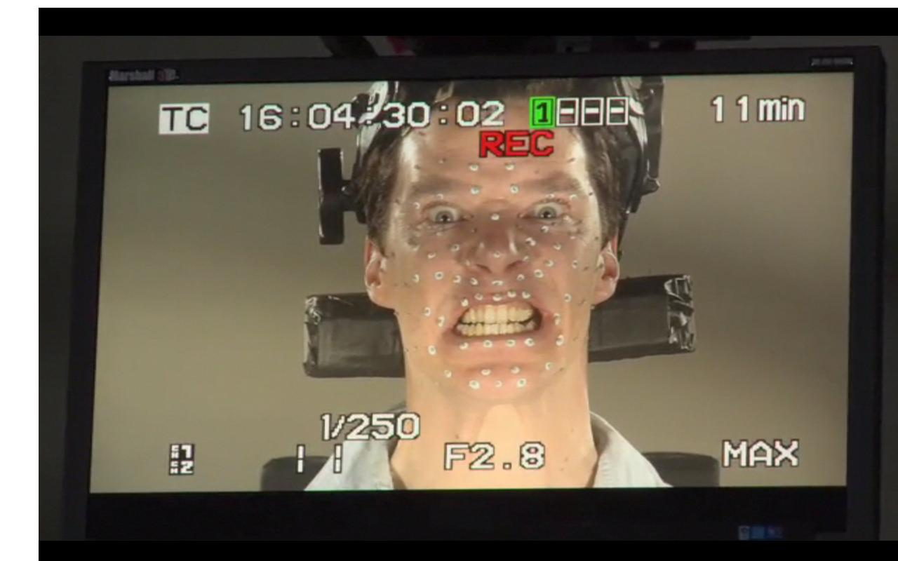 Benedict Cumberbatch Dragon face - The Hobbit - iTunes Extras