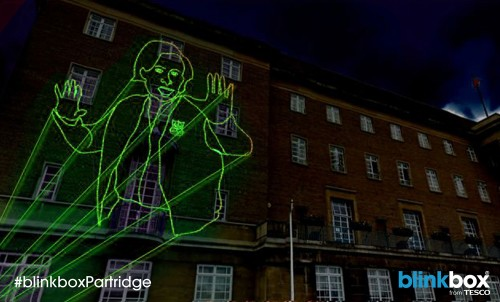 Alan Partridge Christmas lights - Norwich