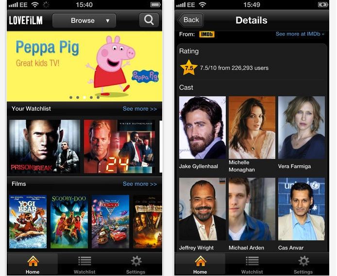 lovefilm iphone app