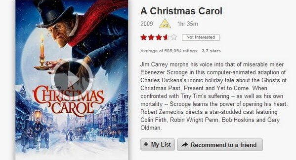 12 Days of Netflix: A Christmas Carol – 2009 (Day 2)