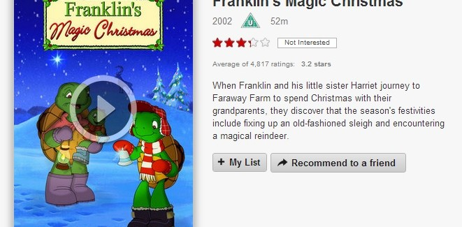 VOD film review: Franklin's Magic Christmas
