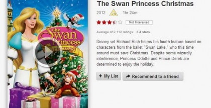 The swan princess christmas - Netflix - review