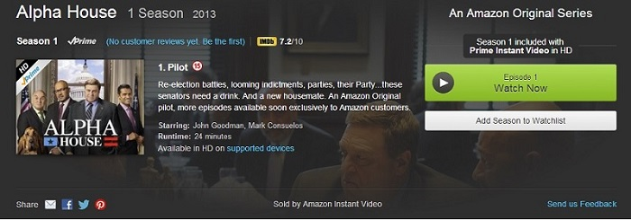 First Look review: Amazon Prime Instant Video TV series Alpha House