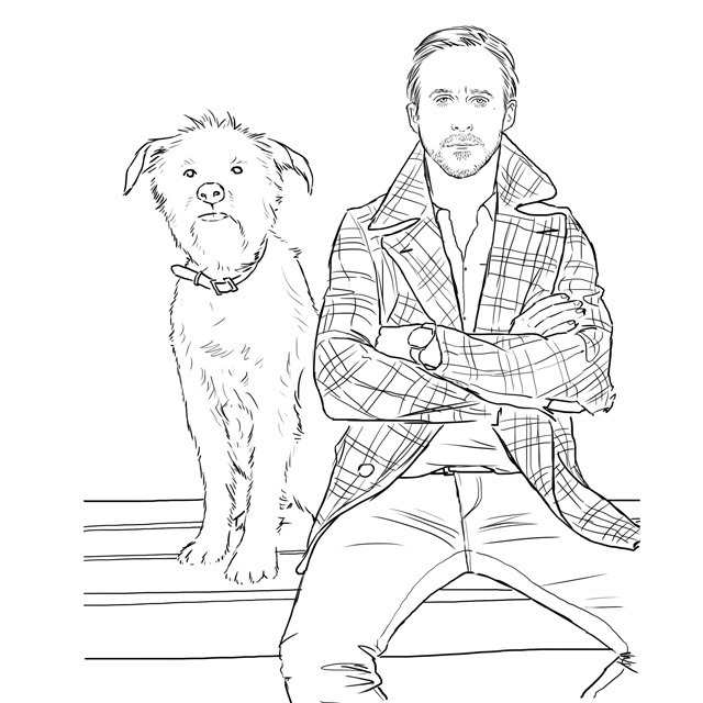 gosling colouring boook