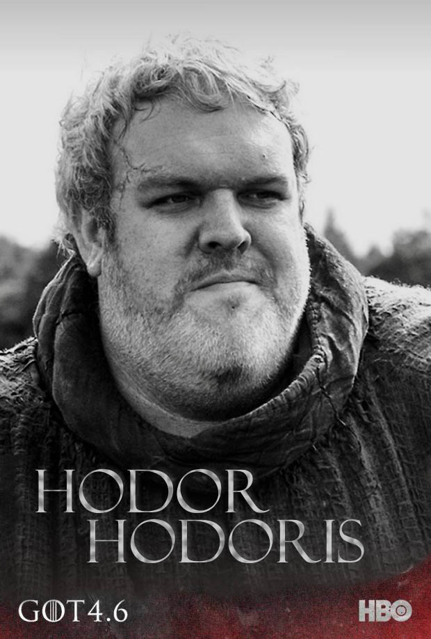 game of thrones season 4 poster hodor. Black Bedroom Furniture Sets. Home Design Ideas