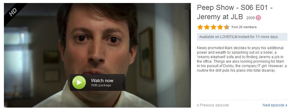 Peep Show Season 6 - leaving LOVEFiLM Instant on 1st March