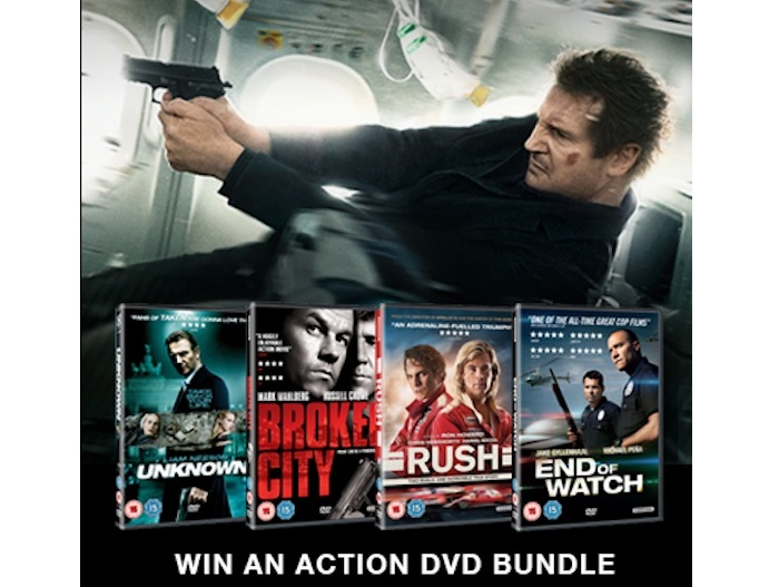 Liam Neeson action DVDs competition