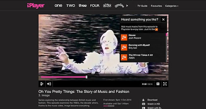 You can now add music from iPlayer programmes to a music playlist