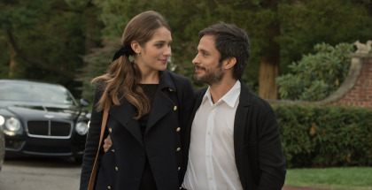 Lola Kirke and Gael Garcia Bernal in Mozart in the Jungle