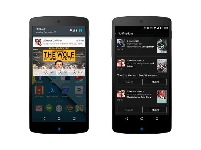 Netflix adds recommendations to Android phones – and watches