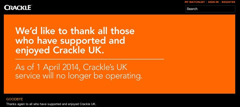 crackle uk