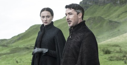 Sophie Turner as Sansa Stark and Aidan Gillen as Littlefinger