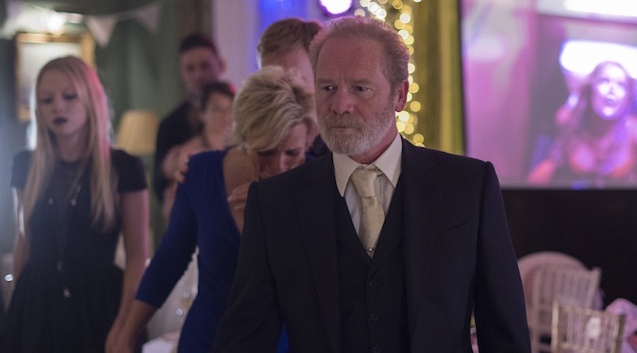 Programme Name: Stonemouth - TX: n/a - Episode: n/a (No. 1) - Picture Shows:  Connie (SHARON SMALL), Don (PETER MULLAN) - (C) BBC - Photographer: Graeme Hunter