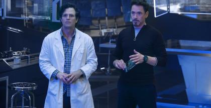 Marvel's Avengers: Age Of Ultron..Bruce Banner/Hulk (Mark Ruffalo) and Tony Stark/Iron Man (Robert Downey Jr.)..Ph: Jay Maidment..?Marvel 2015