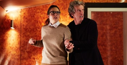 WARNING: Embargoed for publication until 00:00:01 on 27/10/2015 - Programme Name: Doctor Who   - TX: 31/10/2015 - Episode: INVASION OF THE ZYGONS (By Peter Harness) (No. 7) - Picture Shows: ***EMBARGOED UNTIL 27th OCTOBER 2015*** Osgood (INGRID OLIVER), Doctor Who (PETER CAPALDI) - (C) BBC   - Photographer: Simon Ridgway