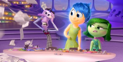 INSIDE OUT ? Pictured (L-R): Fear, Joy, and Disgust. ?2015 Disney?Pixar. All Rights Reserved.
