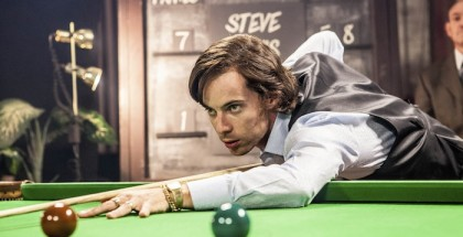 WARNING: Embargoed for publication until 00:00:01 on 05/01/2016 - Programme Name: The Rack Pack - TX: n/a - Episode: n/a (No. n/a) - Picture Shows:  Alex Higgins (LUKE TREADAWAY) - (C) Zeppotron - Photographer: Emilie Sandy