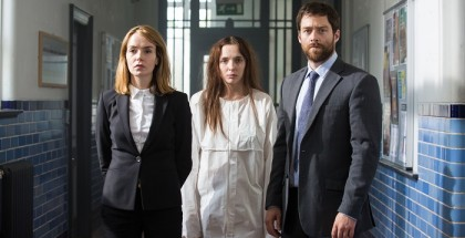 Programme Name: Thirteen - TX: 14/01/2016 - Episode: n/a (No. n/a) - Picture Shows:  Merchant (VALENE KANE), Ivy Moxam (JODIE COMER), Carne (RICHARD RANKIN) - (C) BBC - Photographer: Sophie Mutevelian