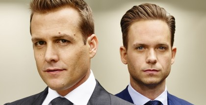 Suits - Season 5 - Picture Shows: (l-r) Gabriel Macht as Harvey Specter, Patrick J Adams as Michael Ross