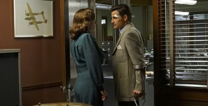 """MARVEL'S AGENT CARTER - """"The Edge of Mystery"""" - Peggy and Sousa propose a trade with Whitney Frost, while the SSR gets help from Howard Stark that may be the key to eliminating Zero Matter, on """"Marvel's Agent Carter,""""  (ABC/Byron Cohen) HAYLEY ATWELL, ENVER GJOKAJ"""
