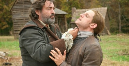 Jamie Bell as Abe Woodhull; Angus Macfadyen as Robert Rogers - TURN: Washington's Spies _ Season 3, Episode 1 - Photo Credit: Antony Platt/AMC