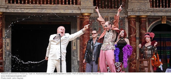 Polish Production.  Shakespeares Globe Theatre.  8/5/12