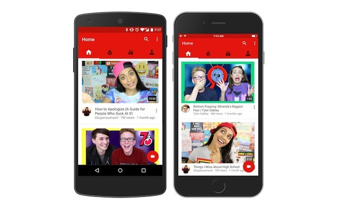 YouTube revamps homepage for mobiles
