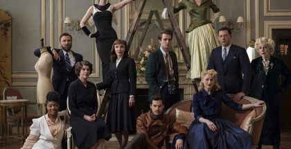 *** To be reproduced as entire ensemble group only - MUST NOT be used for individual characters *** Picture shows: (L-R) Juliette (BETHAN MARY-JAMES), Victor Bastide (ALEXANDRE BRASSEUR), Marianne (IRENE JACOB), Dominique (POPPY CORBY-TUECH), Charlotte (ALIX POISSON), Claude Sabine (TOM RILEY) seated on floor, Billy Novak (MAX DEACON), Nina (JENNA THIAM) on ladder, HELEN SABINE (MAMIE GUMMER), Paul Sabine (RICHARD COYLE), and Yvette Sabine (FRANCES DE LA TOUR)