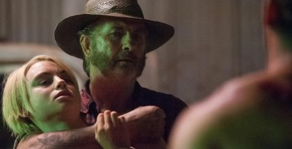 Episode 6 D40C 112 Lucy Fry as Eve Thorogood & John Jarratt as Mick Taylor in WOLF CREEK.  A Screentime Production for STAN. Photo Sam Oster