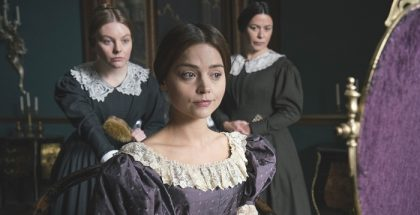 From ITV VICTORIA Episode One Pictured: NELL HUDSON (Skerrett), EVE MYLES (Mrs Jenkins) and JENNA COLEMAN as Victoria This photograph is (C) ITV Plc and can only be reproduced for editorial purposes directly in connection with the programme or event mentioned above. Once made available by ITV plc Picture Desk, this photograph can be reproduced once only up until the transmission [TX] date and no reproduction fee will be charged. Any subsequent usage may incur a fee. This photograph must not be manipulated [excluding basic cropping] in a manner which alters the visual appearance of the person photographed deemed detrimental or inappropriate by ITV plc Picture Desk. This photograph must not be syndicated to any other company, publication or website, or permanently archived, without the express written permission of ITV Plc Picture Desk. Full Terms and conditions are available on the website www.itvpictures.com For further information please contact: Patrick.smith@itv.com 0207 1573044