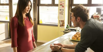 Anita/Mia (Gemma Chan) and Ed (Sam Palladio).