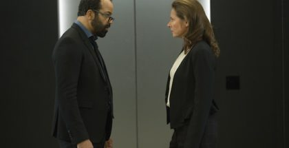 Jeffrey Wright as Bernard Lowe, Sidse Babett Knudsen as Theresa Cullen