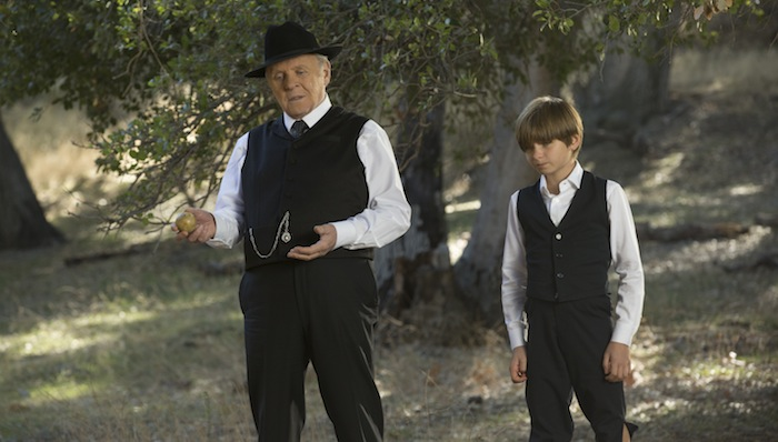 Anthony Hopkins as Dr Robert Ford, Oliver Bell as Little Boy