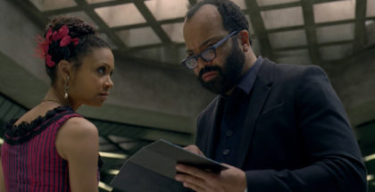 Thandie Newton as Maeve Millay, Jeffrey Wright as Bernard Lowe