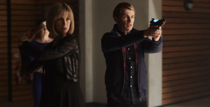 WARNING: Embargoed for publication until 00:00:01 on 26/11/2016 - Programme Name: Class - TX: n/a - Episode: Class - Ep8 (No. 8) - Picture Shows: (L-R) Miss Quill (KATHERINE KELLY), Charlie (GREG AUSTIN) - (C) BBC - Photographer: Simon Ridgeway