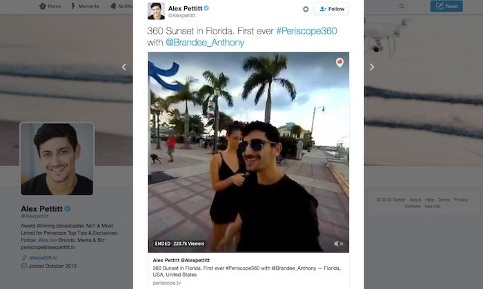 Twitter launches live 360-degree videos