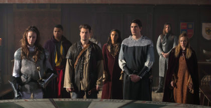 "Elyse Levesque as Guinevere, Franz Drameh as Jefferson ""Jax"" Jackson, Nick Zano as Nate Heywood/Citizen Steel, Maisie Richardson-Sellers as Amaya Jiwe/Vixen, Brandon Routh as Ray Palmer/The Atom and Caity Lotz as Sara Lance/White Canary.DC's Legends of Tomorrow 2, ep. 12 ""Camelot/3000"""