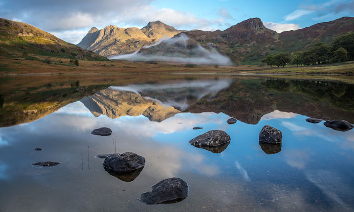 Programme Name: The Lake District: A Wild Year - TX: n/a - Episode: The Lake District: A Restless Year - EP 1 (No. n/a) - Picture Shows: Blea Tarn in the Lake District   - (C) BBC - Photographer: Peter Short