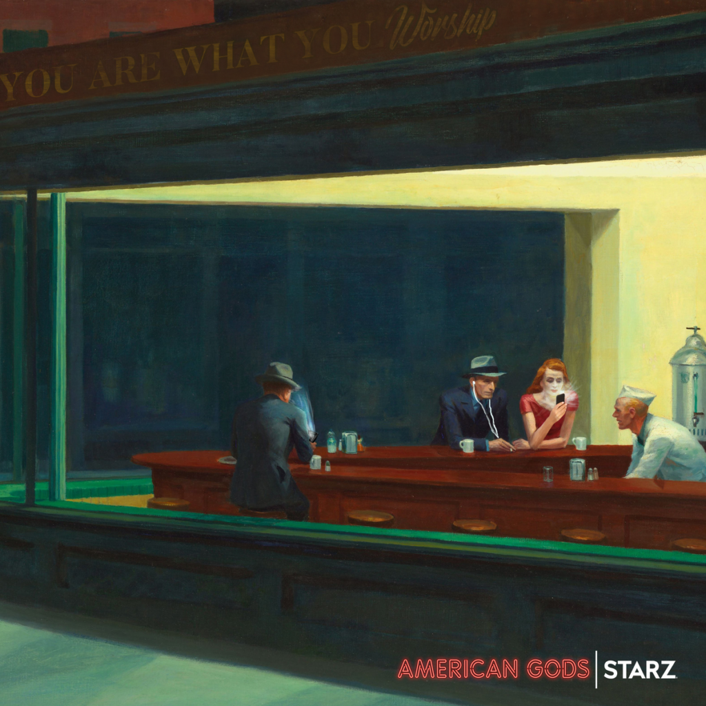 American Gods - Edward Hopper's Nighthawks