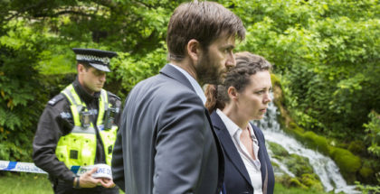 ITV BROADCHURCH SERIES 3 Episode 3 Pictured : OLIVIA COLMAN as D.S. ELLIE MILLER as Olivia and DAVID TENNANT as D.I Alec Hardy. This photograph is (C) ITV Plc and can only be reproduced for editorial purposes directly in connection with the programme or event mentioned above. Once made available by ITV plc Picture Desk, this photograph can be reproduced once only up until the transmission [TX] date and no reproduction fee will be charged. Any subsequent usage may incur a fee. This photograph must not be manipulated [excluding basic cropping] in a manner which alters the visual appearance of the person photographed deemed detrimental or inappropriate by ITV plc Picture Desk. This photograph must not be syndicated to any other company, publication or website, or permanently archived, without the express written permission of ITV Plc Picture Desk. Full Terms and conditions are available on the website www.itvpictures.com For further information please contact: Patrick.smith@itv.com 0207 1573044