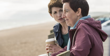 ITVBROADCHURCH SERIES 3Episode 3Pictured : JULIE HESMONDHALGH as Trish and JODIE WHITTAKER as Beth.This photograph is (C) ITV Plc and can only be reproduced for editorial purposes directly in connection with the programme or event mentioned above. Once made available by ITV plc Picture Desk, this photograph can be reproduced once only up until the transmission [TX] date and no reproduction fee will be charged. Any subsequent usage may incur a fee. This photograph must not be manipulated [excluding basic cropping] in a manner which alters the visual appearance of the person photographed deemed detrimental or inappropriate by ITV plc Picture Desk.  This photograph must not be syndicated to any other company, publication or website, or permanently archived, without the express written permission of ITV Plc Picture Desk. Full Terms and conditions are available on the website www.itvpictures.comFor further information please contact: Patrick.smith@itv.com 0207 1573044