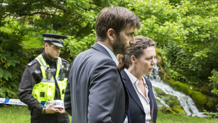 ITV  BROADCHURCH  SERIES 3  Episode 3   Pictured : OLIVIA COLMAN as D.S. ELLIE MILLER as Olivia and DAVID TENNANT as D.I Alec Hardy.  This photograph is (C) ITV Plc and can only be reproduced for editorial purposes directly in connection with the programme or event mentioned above. width=
