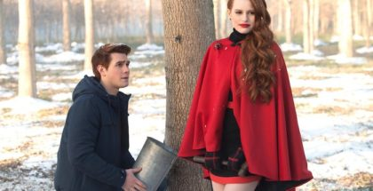 "Riverdale -- ""Chapter Nine: La Grande Illusion"" -- Image Number: RVD109b_0284.jpg -- Pictured (L-R): KJ Apa as Archie Andrews and Madelaine Petsch as Cheryl Blossom -- Photo: Diyah Pera/The CW -- © 2017 The CW Network. All Rights Reserved"