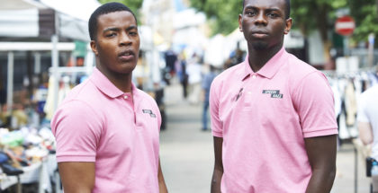 Daniel Ezra and Kayode Ewumi for Enterprice photographer Adam Lawrence (copyright Fudge Park Productions)