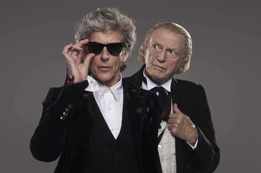 The Doctor (Peter Capaldi) and the First Doctor (David Bradley) portrait shot