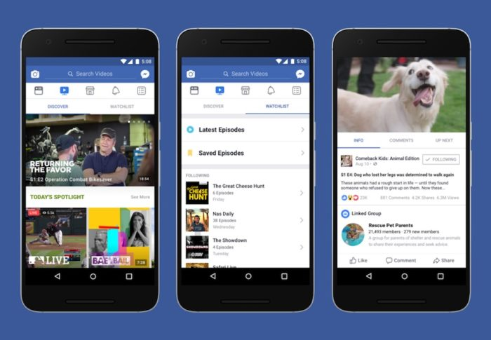 Watch: Facebook takes on YouTube with new video platform