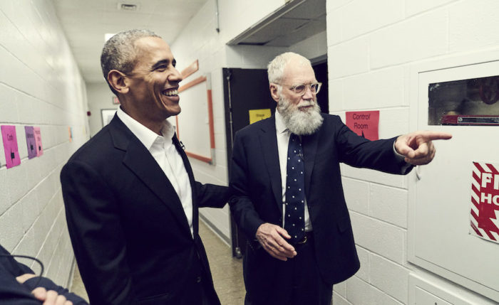 First look: Obama on David Letterman's Netflix show talks dad moves