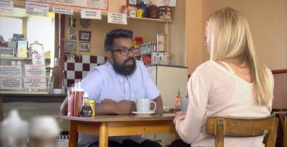 romesh comedians in a caff